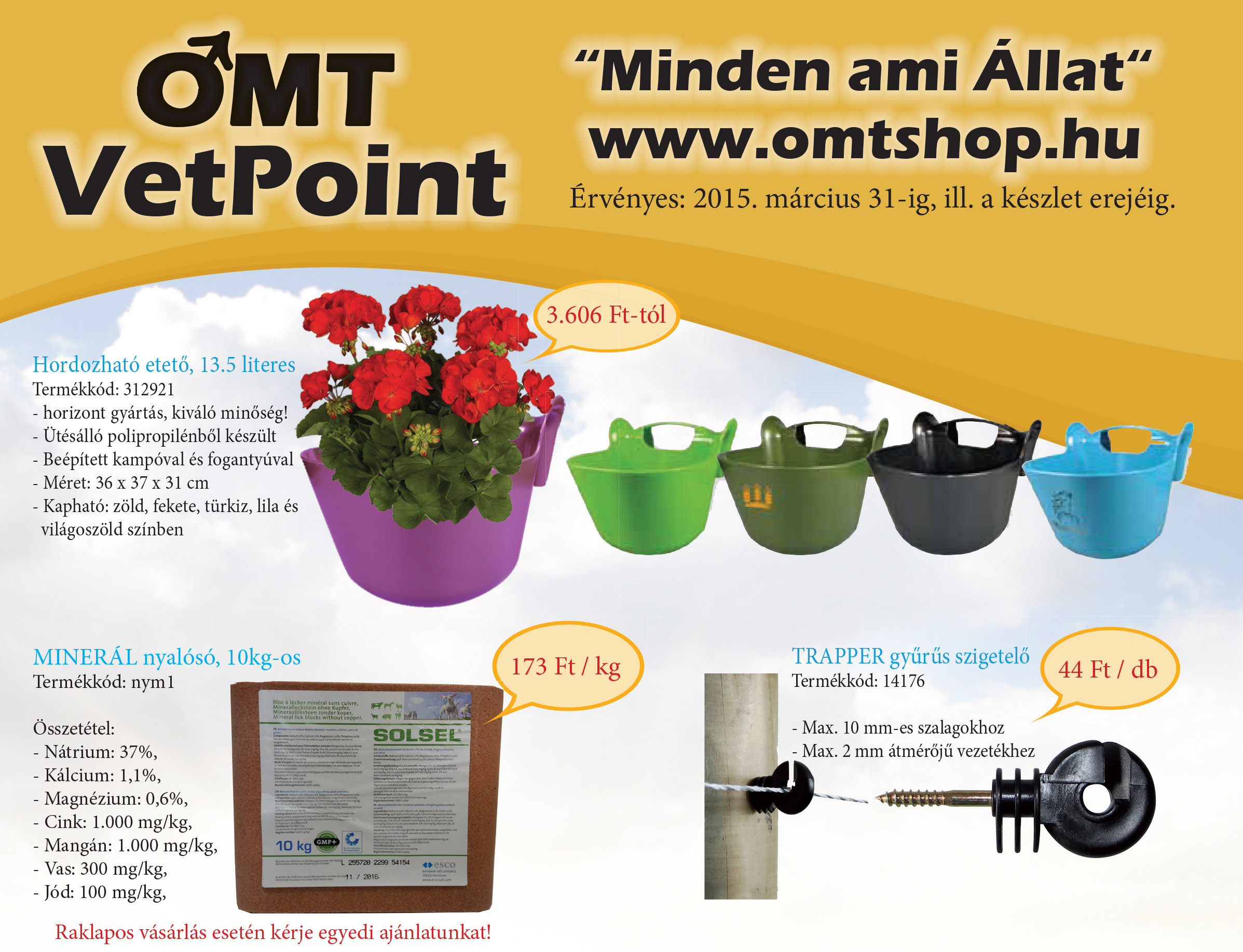 OMT-VetPoint villanypásztor,haszonállat és lovas újság 2015.márciu